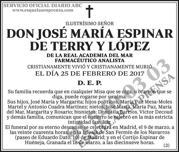 José María Espinar de Terry y López